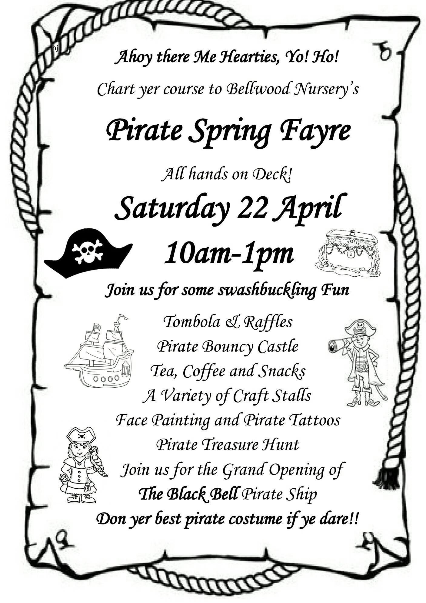 Pirate spring fayre