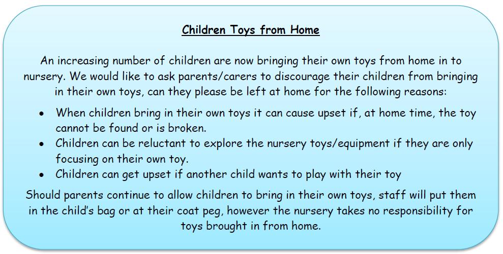 Toys at nursery